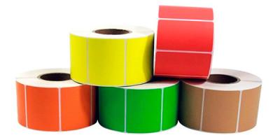 Самоклеящиеся цветные и прозрачные этикетки