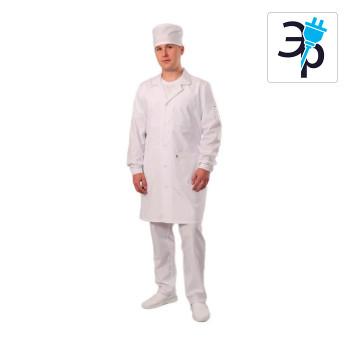 Антистатический мужской халат укороченный модели M-105У