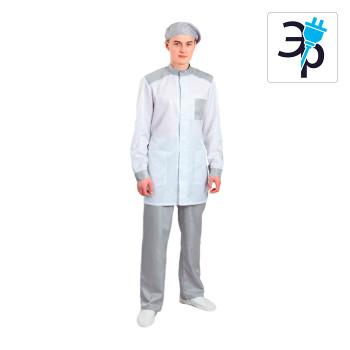 Антистатический мужской халат укороченный модели M-239У