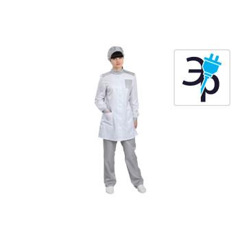 Антистатический женский халат укороченный модели M-241У