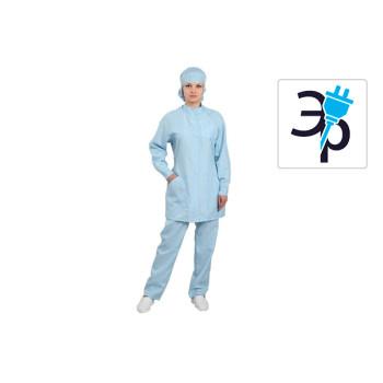 Антистатический женский халат укороченный модели M-250У