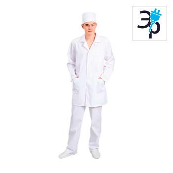 Антистатический мужской халат укороченный модели M-251У