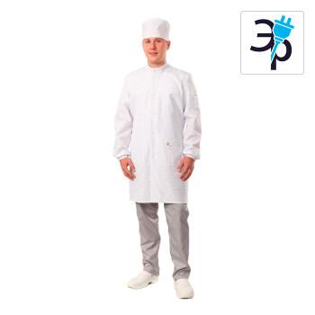 Антистатический мужской халат укороченный модели M-454У