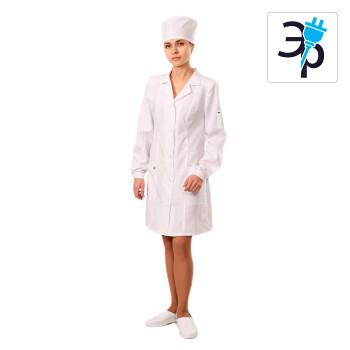 Антистатический женский халат укороченный модели M-46У