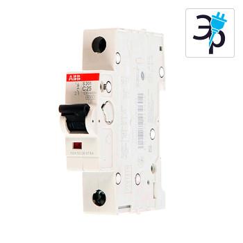 Автоматический выключатель однополюсный ABB S201 6-63А, 6кА - тип С