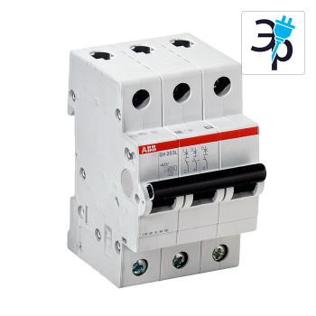 Автоматический выключатель трехполюсный ABB SH203L 400В, 4,5кА – тип С