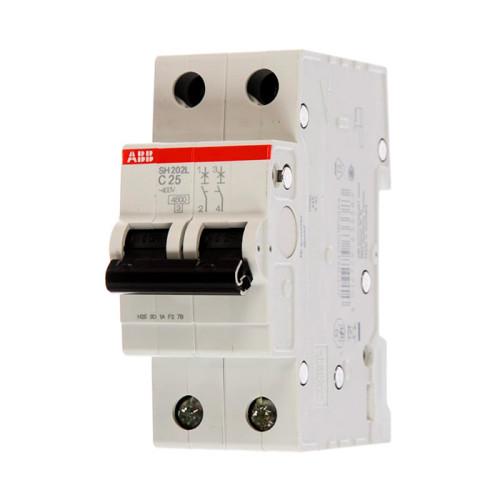Двухполюсный автоматический выключатель ABB SH202L 4,5кА, тип C