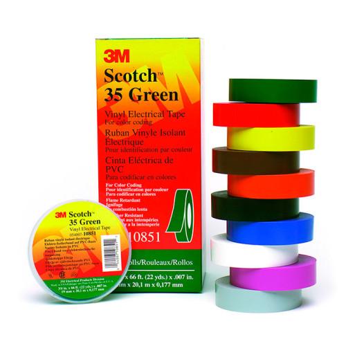 Поливинилхлоридная изоляционная лента 3M Scotch 35 – разные цвета, 20м