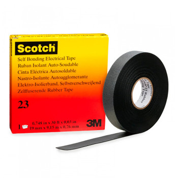Высокоэластичная резиновая изоляционная лента 3M SCOTCH 23 - самовулканизирующаяся