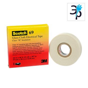 Температуроустойчивая изоляционная лента из стеклоткани 3M Scotch 69