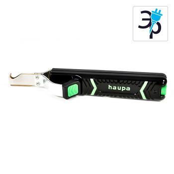 Инструмент для снятия кабельной оболочки с лезвием в форме крюка HAUPA