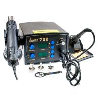 Цифровая паяльная станция (блок питания, фен, паяльник) LUKEY-702, 750 Вт