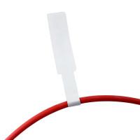 Маркировочные флажки для кабеля P-формы из полипропилена - 23x37 мм