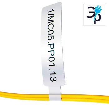 Складные флажки для термотрансферного принтера, полипропилен, 28x60мм