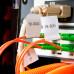 Складные маркировочные ярлыки для кабеля Н-формы – полипропилен, 106x20 мм