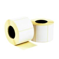 Самоклеящиеся белые этикетки из бумаги TM420002 - полуглянцевые