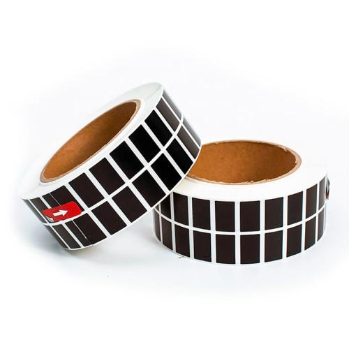 Самоклеящиеся черные этикетки из глянцевого полиэстера TM1118
