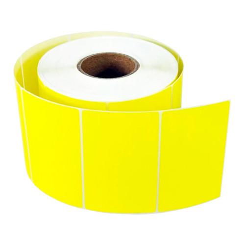 Самоклеящиеся светло-желтые этикетки из глянцевого полиэстера TM2250