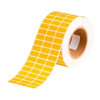 Желтые самоклеящиеся этикетки из глянцевого полиэстера TM1597