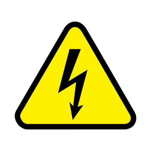 Наклейка знак электробезопасности «Опасность поражения электротоком»