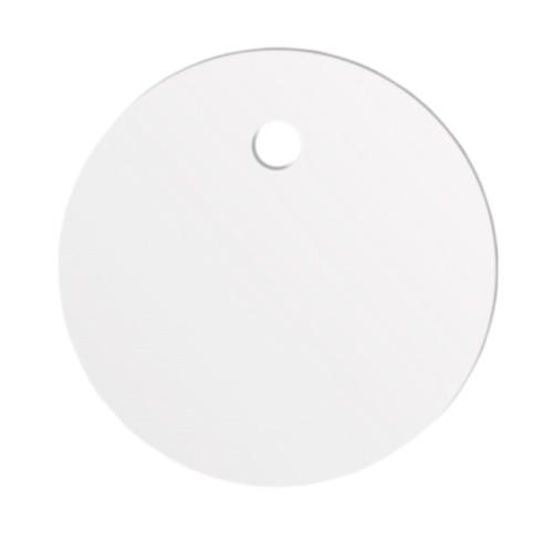 Круглые маркировочные бирки Fortisflex тип У-135М – белые, пластикат ПП-В