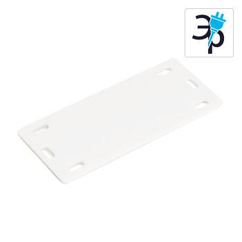 Маркировочные бирки У-212М Fortisflex – белые, полипропилен, 100шт