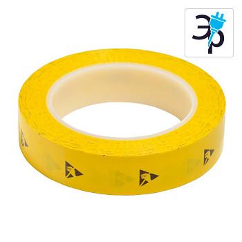 Антистатическая упаковочная лента CLEANTEK СТ-145-12 – желтая, 33м