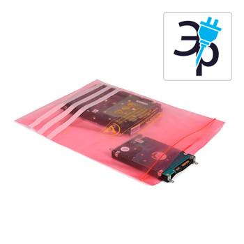 Пакеты антистатические DescoEurope - розовые, с zip-замком и полем для записей