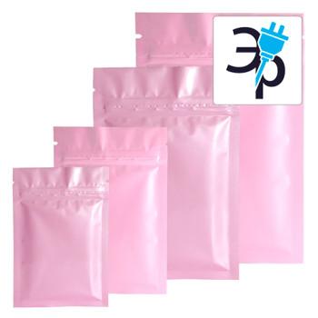 Пакеты антистатические DescoEurope - розовые, с zip-замком