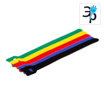 Многоразовые нейлоновые хомуты-липучки для стяжки кабеля, цветные – 150X12 мм