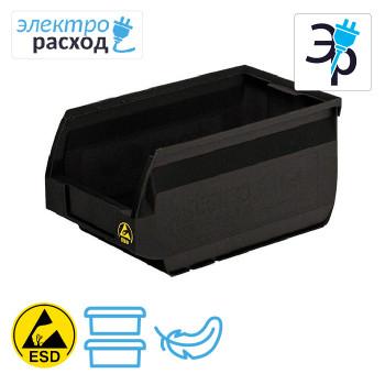 Антистатические пластиковые ящики – токопроводящие, черные