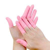 Антистатические напальчники Dou Yee – латекс, розовые