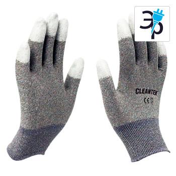 Нейлоновые антистатические перчатки с защитой пальцев CLEANTEK CG-302