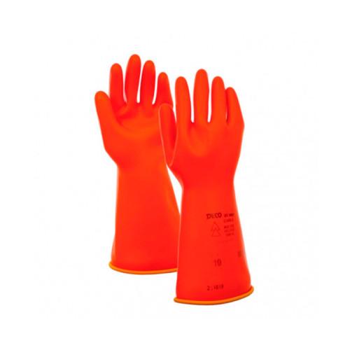 Диэлектрические перчатки бесшовные - латекс, 1000В