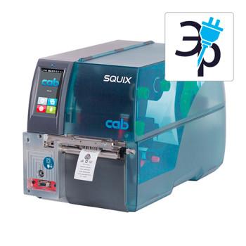 Термотрансферный принтер CAB SQUIX 4 MT для текстильных лент, трубки, бирок