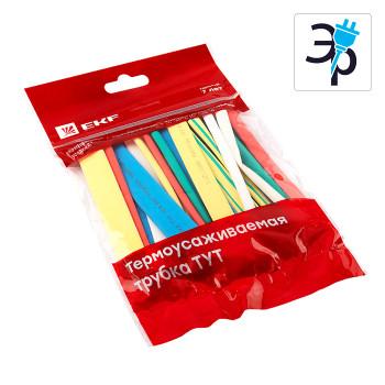 Набор термоусаживаемых трубок EKF PROxima 7 цветов по 5шт - 100мм