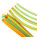 Термоусадочные желто-зеленые трубки КВТ в упаковке Т-бокс - 10м