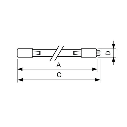 Размеры ламп TUV TL Mini
