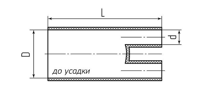 Схема размеров до усадки