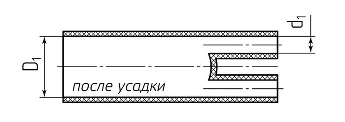 Схема размеров после усадки