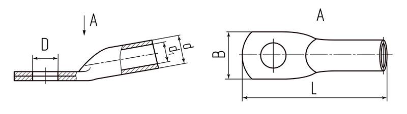 Схема размеров наконечников ТА