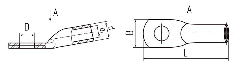 Схема размеров наконечников ТМЛ
