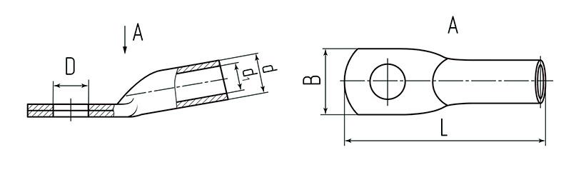 Схема размеров наконечников ТМ