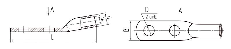 Схема размеров наконечника ТМЛ-2