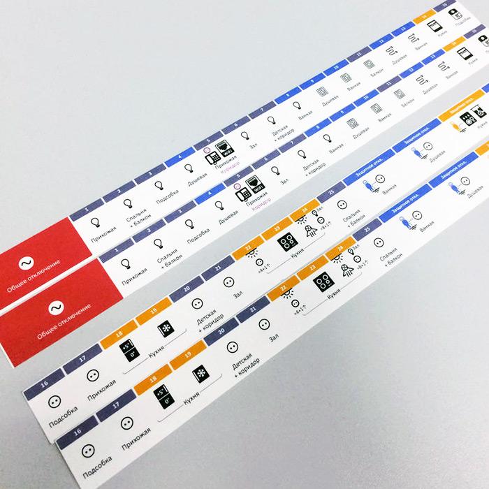Бумажная маркировка электрощита