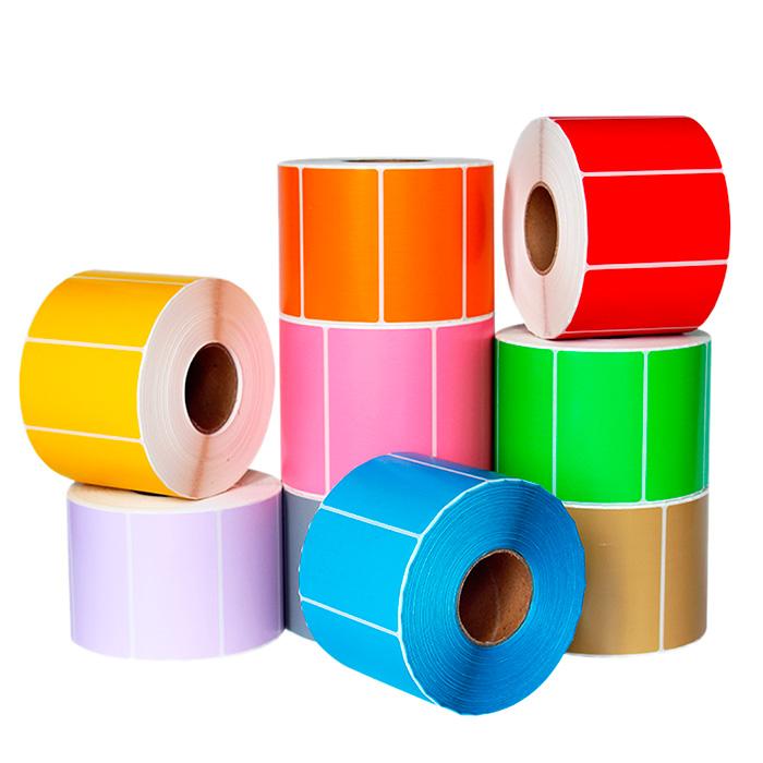 Цветные этикетки из полиэстера