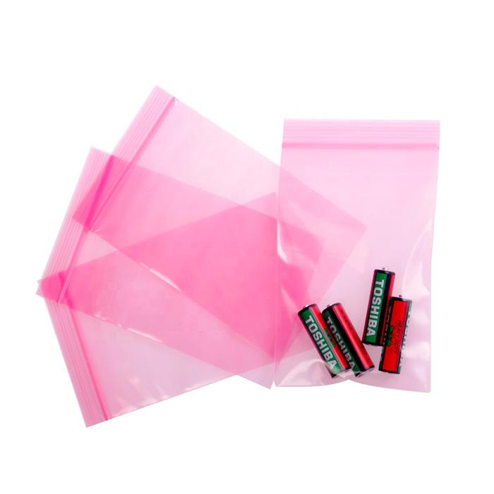 Розовые антистатические пакеты