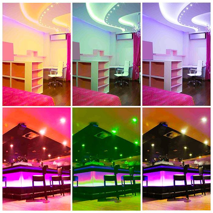 RGB-декорирование комнат